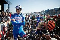 Bjorn Leukemans (BEL/Wanty-Groupe Gobert) ready for the start<br /> <br /> 3 Days of West-Flanders 2015<br /> stage 2: Nieuwpoort - Ichtegem 184km