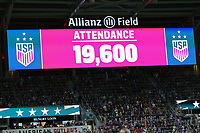 Saint Paul, MN - SEPTEMBER 03: The Attendance of the United States vs Portugal during their 2019 Victory Tour match versus Portugal at Allianz Field, on September 03, 2019 in Saint Paul, Minnesota.