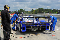 #60 Michael Shank Racing Ford/Riley of Ozz Negri & John Pew makes a pit stop.  class: Daytona Prototype (DP)