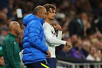 26th August 2021; Tottenham Hotspur Stadium, London, England; Europa Conference League football, Tottenham Hotspur versus Paços de Ferreira; Dele Alli with Tottenham Hotspur Manager Nuno Espírito Santo