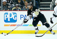 Phil Kessel #81 of the Pittsburgh Penguins in action against the Los Angeles Kings during the game at Consol Energy Center in Pittsburgh, Pennsylvania on December 11, 2015. (Photo by Jared Wickerham / DKPS)