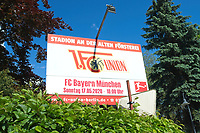 17th May 2020,Stadion An der Alten Försterei, Berlin, Germany; Bundesliga football, FC Union Berlin versus Bayern Munich;  The playing schedule signage outside the stadium