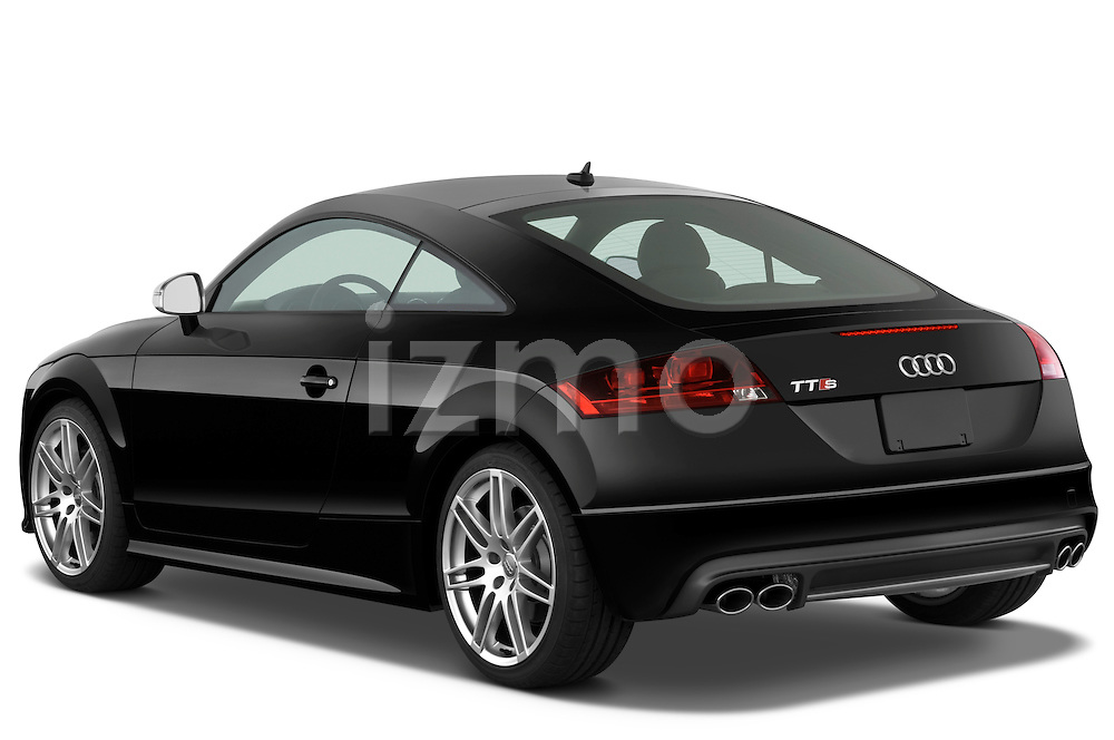 Rear three quarter view of a 2010 Audi TTS Coupe