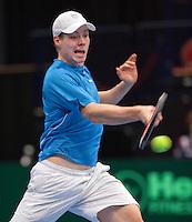 12-02-12, Netherlands,Tennis, Den Bosch, Daviscup Netherlands-Finland,  Harri Heliovaara