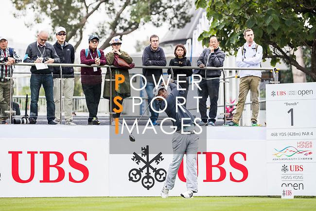 Sam Chien of the United States tees off during the day three of UBS Hong Kong Open 2017 at the Hong Kong Golf Club on 25 November 2017, in Hong Kong, Hong Kong. Photo by Yu Chun Christopher Wong / Power Sport Images