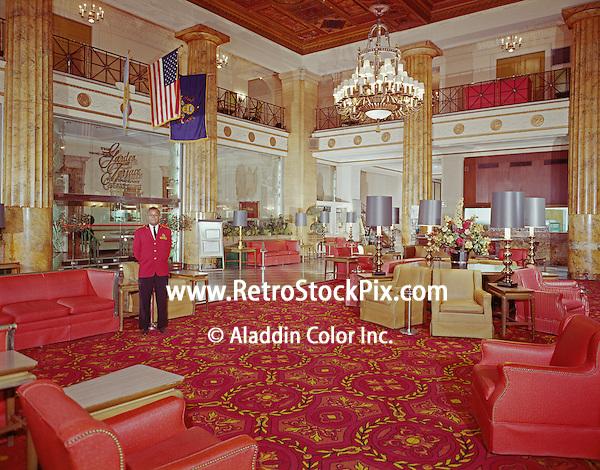 Ben Franklin Hotel. Philadelphia, PA 1960's Lobby