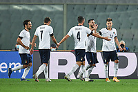 Stephan El Shaarawy of Italia celebrates after scoring the 3-0 goa, with Caputo and Cristante, during the friendly football match between Italy and Moldova at Artemio Franchi Stadium in Firenze (Italy), October, 7th 2020. Photo Andrea Staccioli/ Insidefoto