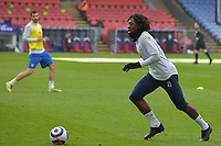 Eberechi Eze of Crystal Palace warms up before the Premier League behind closed doors match between Crystal Palace and Fulham at Selhurst Park, London, England on 28 February 2021. Photo by Vince Mignott / PRiME Media Images.