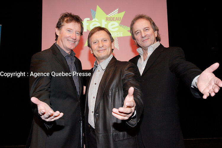 The cast of BROUE : Marc Messier, Marcel Gauthier , Michel Cote.<br /> <br /> the theater has been presented over 3000 times and seen by over 3 million people since 1979.