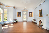 """BNPS.co.uk (01202) 558833. <br /> Pic: KnightFrank/BNPS<br /> <br /> Pictured: Reception room. <br /> <br /> A castle that was burnt down by a pirate, involved in the English Civil War and has been in the same family for five centuries is on the market for offers over £650,000.<br /> <br /> Kilberry Castle, which dates back to the 15th century, has an incredible history and still has a wealth of original features including a 288-year-old mausoleum.<br /> <br /> It sits in 21 acres of land on the Scottish west coast, with stunning views over Kilberry Bay and out to the islands of Islay, Jura and Gigha.<br /> <br /> The four-storey tower house now needs a buyer """"with deep pockets and great imagination"""" to carry out a complete refurbishment but it has a lot of potential."""