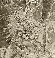 historical aerial photo map of Aspen, Pitkin,County, Colorado, 1951