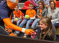 April 18, 2015, Netherlands, Den Bosch, Maaspoort, Fedcup Netherlands-Australia, Kids pressconference <br /> Photo: Tennisimages/Henk Koster