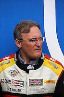 Feb 22, 2015; Chandler, AZ, USA; NHRA top fuel driver Doug Kalitta during the Carquest Nationals at Wild Horse Pass Motorsports Park. Mandatory Credit: Mark J. Rebilas-