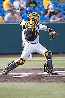 Tyler Baker (17) in action during the NCAA matchup between the Indiana State Sycamores and the Wichita State Shockers at Eck Stadium on April 6th, 2012 in Wichita, Kansas. The Shockers defeated the Sycamores 11-3. (William Purnell/Four Seam Images)