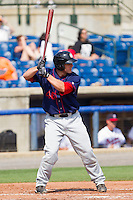 David Freitas #46 of the Hagerstown Suns at bat against the Rome Braves at State Mutual Stadium on May 2, 2011 in Rome, Georgia.   Photo by Brian Westerholt / Four Seam Images
