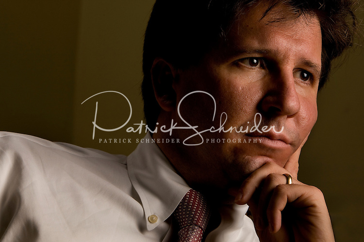 Environmental portrait of an attorney in Charlotte, NC.