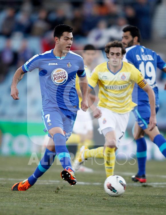 Getafe's Miku during La Liga Match. February 18, 2012. (ALTERPHOTOS/Alvaro Hernandez)