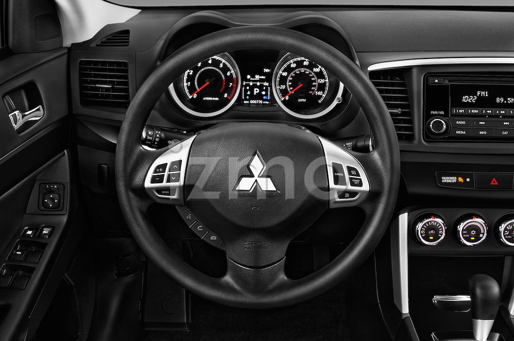 Car pictures of steering wheel view of a 2016 Mitsubishi Lancer ES-CVT 4 Door Sedan Steering Wheel