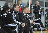 SWANSEA, WALES - JANUARY 17:   of  during the Barclays Premier League match between Swansea City and Chelsea at Liberty Stadium on January 17, 2015 in Swansea, Wales. Swansea manager Garry Monk