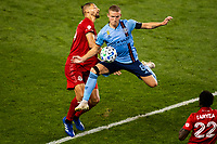 HARRISON, NJ - SEPTEMBER 23: HARRISON, NJ - Wednesday, September 23, 2020: Omar Gonzalez, Alexander Ring during a game between New York City FC and Toronto FC on September 23, 2020 at Red Bull Arena in Harrison, New Jersey during a game between Toronto FC and New York City FC at Red Bull Arena on September 23, 2020 in Harrison, New Jersey.