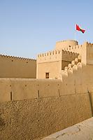 Oman, Buraimi, Al Khandaq Fort, walls and ramparts