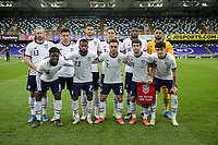 BELFAST, NORTHERN IRELAND - MARCH 28: USMNT starting XI before a game between Northern Ireland and USMNT at Windsor Park on March 28, 2021 in Belfast, Northern Ireland.