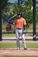 Houston Astros Josh Rojas (6) during a Minor League Spring Training Intrasquad game on March 28, 2018 at FITTEAM Ballpark of the Palm Beaches in West Palm Beach, Florida.  (Mike Janes/Four Seam Images)