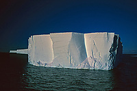 The face of the Ross ice shelf, Ross Sea Antarctica. It is a corner piece. The ross ice shelf turns and meanders through out its length.
