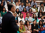 13 March 2013, New Delhi, India: President of the World Bank, Mr Jim Yong Kim speaks at a meeting of the World Bank staff in the grounds of the Delhi Headquarters. Mr.Kim is visiting India  for meetings with local staff, Indian Government Ministers and to inspect projects sponsored by World Bank in regional areas. Picture by Graham Crouch/World Bank