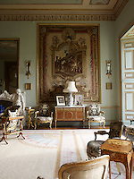 A corner of the Tapestry Drawing Room reveals the formal seating arrangement of the Louis XVI  bergere chairs