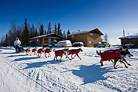 Peter Kaiser arrives at the Galena checkpoint in Interior Alaska during the 2010 Iditarod