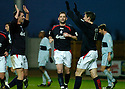 01/01/2005  Copyright Pic : James Stewart.File Name : jspa06_falkirk_v_raith-rovers.NEIL SCALLY AND DAYRLL DUFFY CELEBRATE WITH ANDY THOMSON  AFTER HE SCORES FALKIRK'S SECOND...Payments to :.James Stewart Photo Agency 19 Carronlea Drive, Falkirk. FK2 8DN      Vat Reg No. 607 6932 25.Office     : +44 (0)1324 570906     .Mobile   : +44 (0)7721 416997.Fax         : +44 (0)1324 570906.E-mail  :  jim@jspa.co.uk.If you require further information then contact Jim Stewart on any of the numbers above.........