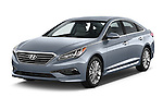 2015 Hyundai Sonata 2.4 Auto Limited 4 Door Sedan angular front stock photos of front three quarter view