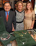 Owner Ziad Noshie with his wife Lydia and daughter Alissa  at Almaza Jewelers in Rice Village Saturday July 12,2008.