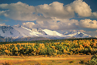 Autumn landscape of Mount Katolinat, Katmai National Park, Alaska