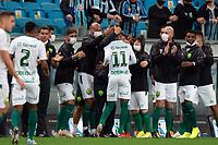 6th October 2021; Arena do Gremio, Porto Alegre, Brazil; Brazilian Serie A, Gremio versus Cuiaba; Max of Cuiaba celebrates his goal in the 23rd minute for 0-1