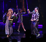 """Kerry Butler Rob McClure during the Broadway Opening Night Performance Curtain Call for """"Beetlejuice"""" at The Winter Garden on April 25, 2019 in New York City."""