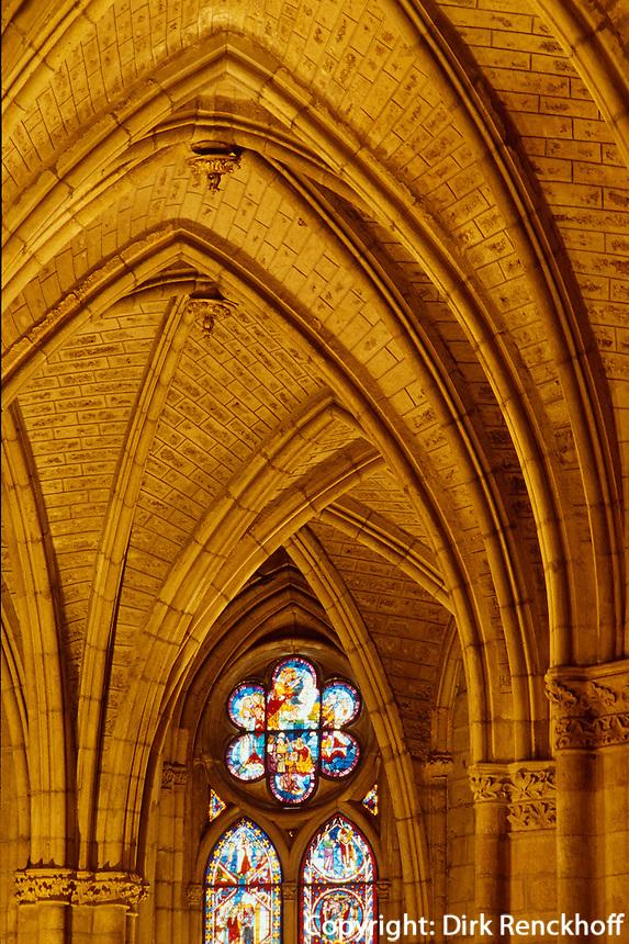 Glasfenster der Kathedrale, León,  Kastilien-León, Spanien.