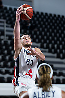 22nd February 2021, Podgorica, Montenegro; Eurobasket International Basketball qualification for the 2022 European Championships, England versus France;  Axel Julien of France