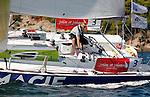 Depart de la WOW Cap Istanbul..Macif 3.Francois Gabart