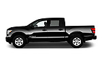 Car Driver side profile view of a 2017 Nissan Titan S-Crew 4 Door Pickup Side View