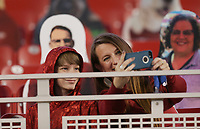 Arkansas fans take pictures, Saturday, November 7, 2020 during a football game at Donald W. Reynolds Razorback Stadium in Fayetteville. Check out nwaonline.com/201108Daily/ for today's photo gallery. <br /> (NWA Democrat-Gazette/Charlie Kaijo)