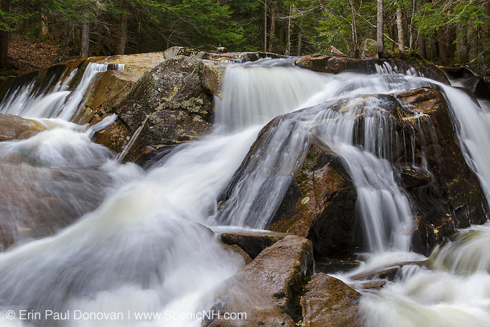 Small cascade along Jackman Brook in North Woodstock, New Hampshire during the spring months.