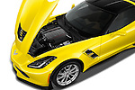 Car Stock 2018 Chevrolet Corvette Grand-Sport-2LT 3 Door Coupe Engine  high angle detail view