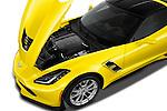 Car Stock 2018 Chevrolet Corvette Grand-Sport-2LT 3 Door Coupe Engine  high angle detail view