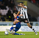 CALEY'S GREG TANSEY CHALLENGES ST MIRREN'S ILIAS HADDAD..03/12/2011   Copyright  Pic : James Stewart.sct_jsp008_st_mirren_v_ict  .James Stewart Photography 19 Carronlea Drive, Falkirk. FK2 8DN      Vat Reg No. 607 6932 25.Telephone      : +44 (0)1324 570291 .Mobile              : +44 (0)7721 416997.E-mail  :  jim@jspa.co.uk.If you require further information then contact Jim Stewart on any of the numbers above.........
