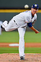 Round Rock Express pitcher Scott Richmond (48) during pacific coast league baseball game, Friday August 15, 2014 in Round Rock, Tex. Reno defeats Round Rock 11-9 to sweep three game series. (Mo Khursheed/TFV Media via AP Images)