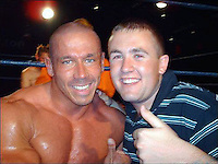 """COPY BY TOM BEDFORD<br /> Pictured: Mark Gedge (L), image taken from his open facebook page.<br /> Re: A professional wrestler killed himself after discovering his heart was packing up because of steroid abuse.  <br /> Mark Gedge, 44, known as Dynamic Domino, went into a """"deep depression"""" when doctors banned him from the gym.<br /> An inquest heard he was diagnosed with heart failure and his ticker was only working at 36 per cent of the normal rate.<br /> Mark, a presenter with Sunshine Radio in Hereford, told bosses he needed time off work and was going camping.<br /> He was found dead from carbon monoxide poisoning in a tent on the Brecon Beacons in June.<br /> His mother Shirley Barber told the inquest in Brecon: """"A scan showed his heart was only working at 36 per cent.COPY BY TOM BEDFORD<br /> Pictured: Mark Gedge, image taken from his open facebook page.<br /> Re: A professional wrestler killed himself after discovering his heart was packing up because of steroid abuse.  <br /> Mark Gedge, 44, known as Dynamic Domino, went into a """"deep depression"""" when doctors banned him from the gym.<br /> An inquest heard he was diagnosed with heart failure and his ticker was only working at 36 per cent of the normal rate.<br /> Mark, a presenter with Sunshine Radio in Hereford, told bosses he needed time off work and was going camping.<br /> He was found dead from carbon monoxide poisoning in a tent on the Brecon Beacons in June.<br /> His mother Shirley Barber told the inquest in Brecon: """"A scan showed his heart was only working at 36 per cent."""