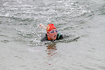 First Lady to finish, Sue McKinney at the Green Buoy 1KM Swim in Clogherhead....(Photo credit should read Jenny Matthews/NEWSFILE)...