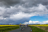 Picture by Alex Whitehead/SWpix.com - 30/04/2016 - Cycling - Tour de Yorkshire, Stage 2: Otley to Doncaster - Yorkshire, England - The peloton in action, lead by Lotto NL Jumbo.